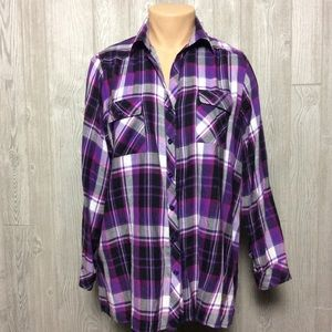 Purple Avenue Button Down Shirt PLUS SIZE 18/20